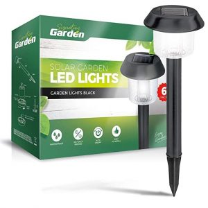 SolarGlow 6-Pack Garden Path Lights