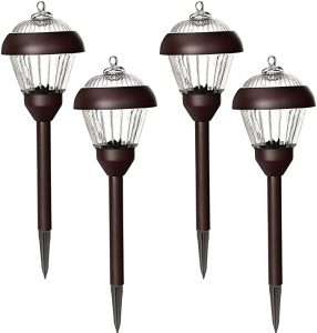 Solpex 4-Pack Solar Path Lights