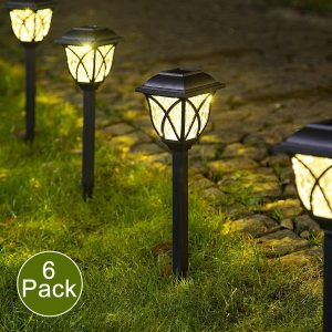 Solpex 6-Pack LED Solar Pathway Lights