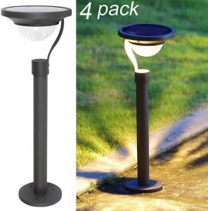 Twinkle Star 4-Pack Lumens Solar Path Lights
